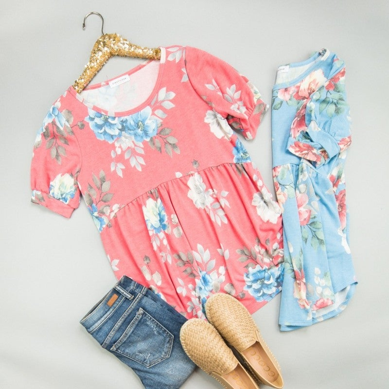 First Love Floral Top  *all sales final*
