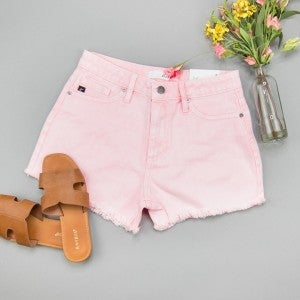 High Rise Pink Denim