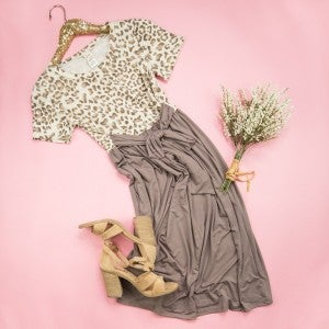 Flaunt Favorite Mocha Leopard Dress