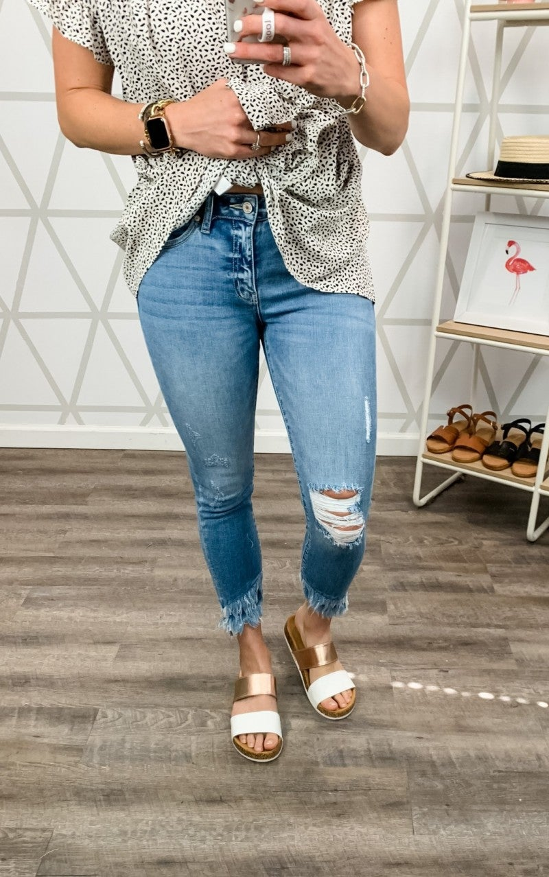 Light Fringe Kancan Denim