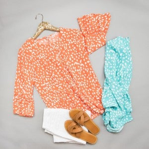 Bell Sleeve Spotty Dot Blouse(REPOST)