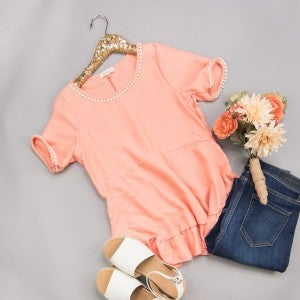 Coral Spring Blouse *all sales final*