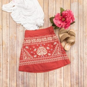Flirty Embroidery Skirt  *ALL SALES FINAL*