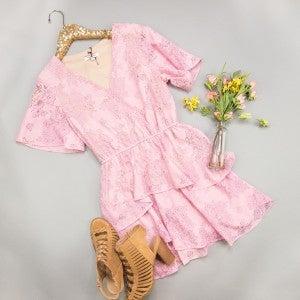 Ruffles & Blush Dress(REPOST)
