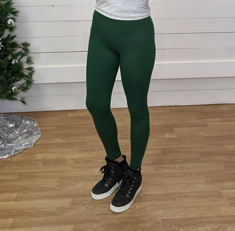Evergreen Butter Full Length Leggings - One Size