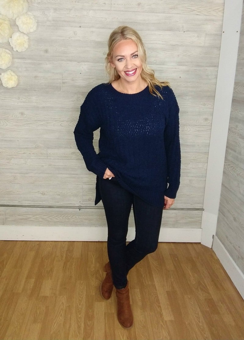 Nora Ribbed Popcorn Sweater