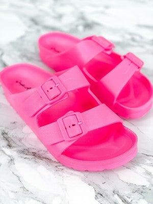 Double Buckle Flat Comfort Sandals