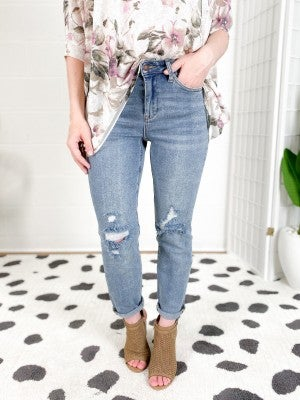 PLUS/REG Judy Blue Penny Lane Boyfriend Jeans