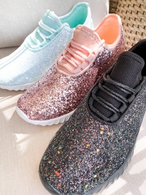 Glitter Lace Up Sneakers (Multiple Colors)
