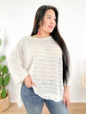 Striped Summer Sweater (Multiple Colors)