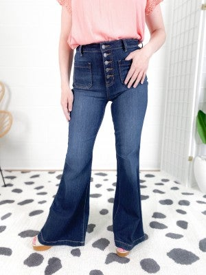 Cello That 70's Girl Non-Distressed Flare Jeans