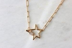 Deliah Star Lock Necklace