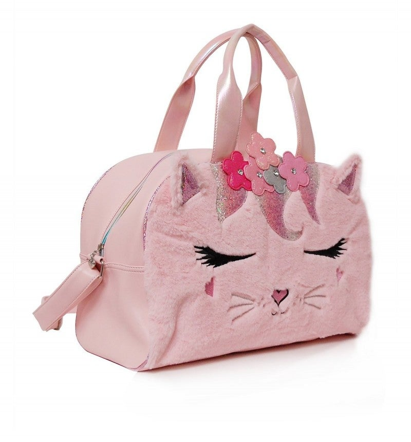 Flower Crown Miss Bella Plush Pink Duffle
