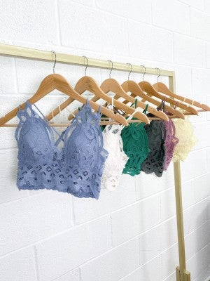 Doorbuster!!!!  Crochet and Lace Bralette with Padding