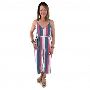 Happiness Jumpsuit with Adjustable Straps, Belt and Pockets