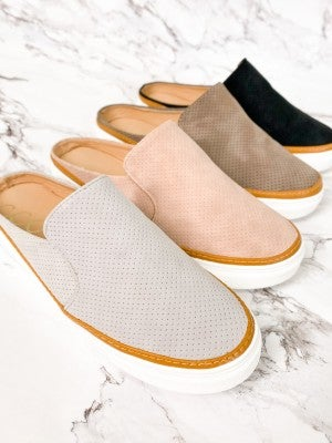 Perforated Slide Sneakers (Multiple Colors)
