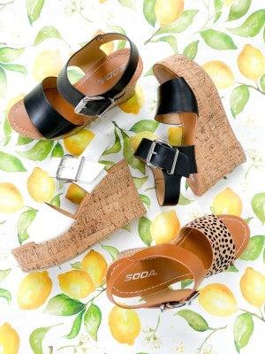 Soda Cork Platform Sandals (Multiple Colors)