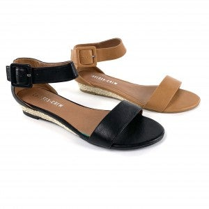 Summer Leather Double Strap Sandals