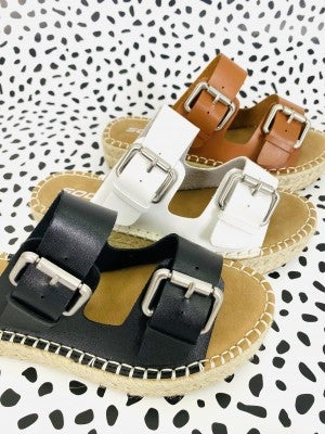 Espadrille Buckle Platform Sandals (Multiple Colors)