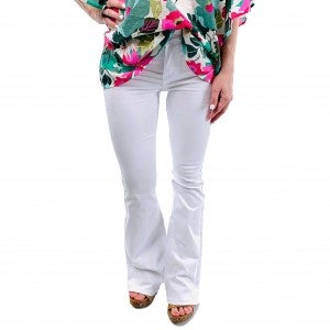 Plus/Reg Judy Blue White Non-Distressed Bootcut Jeans