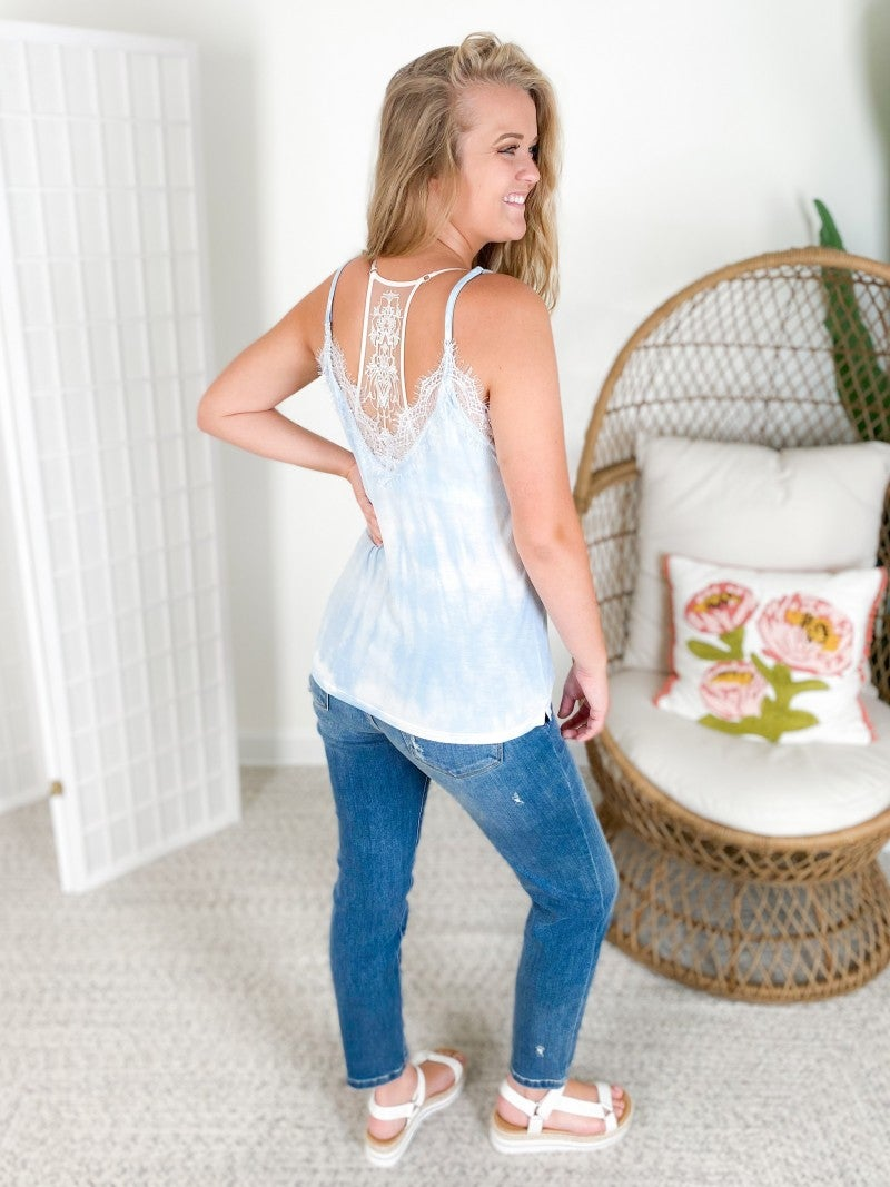 PLUS/REG POL Fresh Washed Tidal Dyed Cami Top (Multiple Colors)