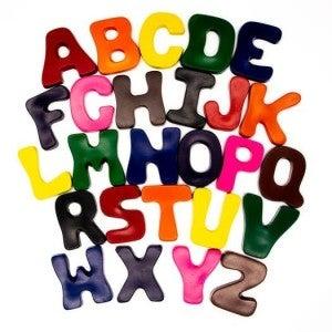 Crazy Alphabet Crayon Set