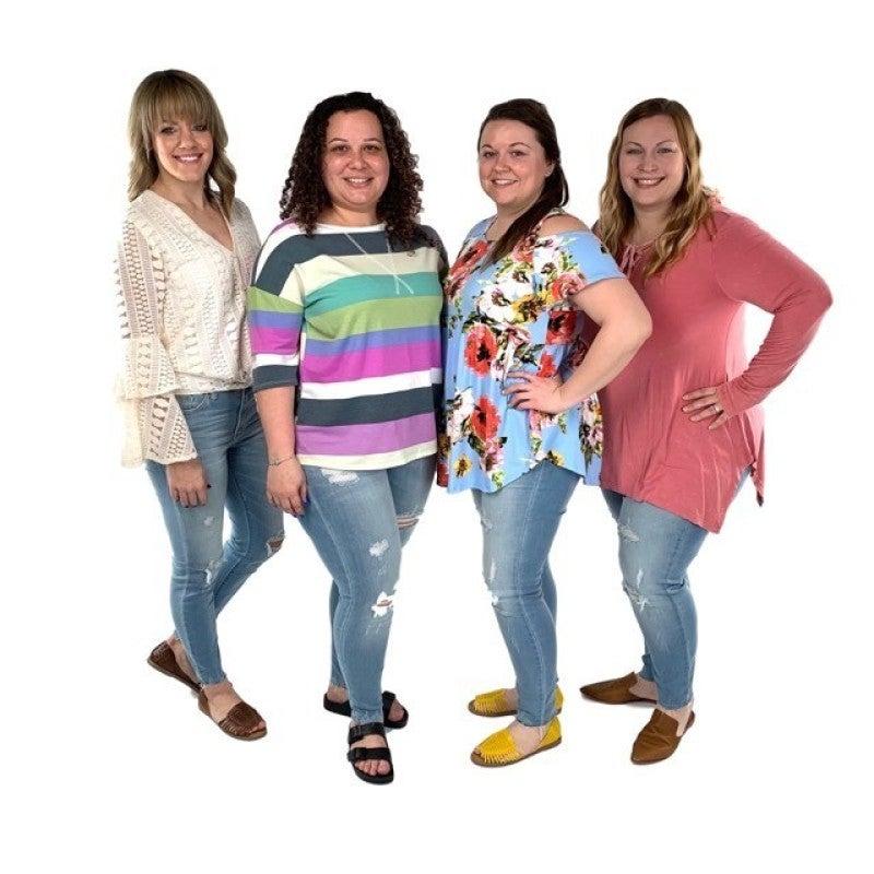 c2325b791476 ... Plus/Reg Judy Blue High Waist #RockStar Super Stretchy Distressed Raw  Hem Skinny Jeans ...