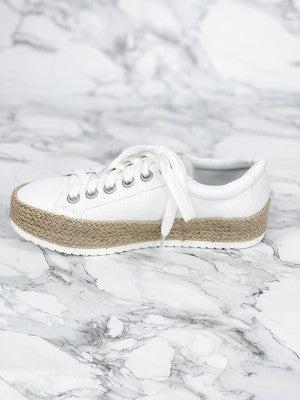 Espadrille Platform Heel Low Top Sneakers (Multiple Colors)
