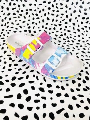 Mia double buckle sandal