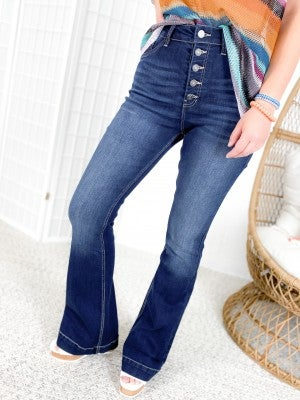 KanCan Boot Scootin' Boogie High Rise Button Fly Bootcut Jeans