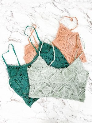 HUGE RESTOCK!! Crochet Bralette with Removable Pad (Multiple Colors)