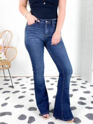 KanCan Small Town Girl Non-Distressed Flare Jeans