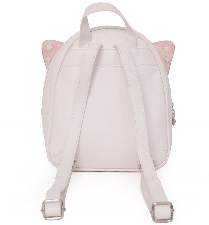 B-Fly Quilted Metallic White Mini Backpack