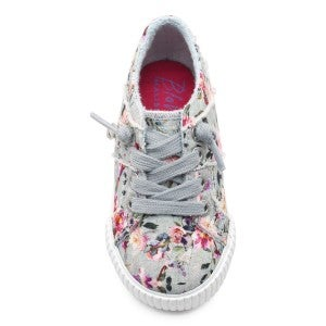 Kids Blowfish Low Rise Slip On Grey and Floral Super Comfy Sneaker with Distressing