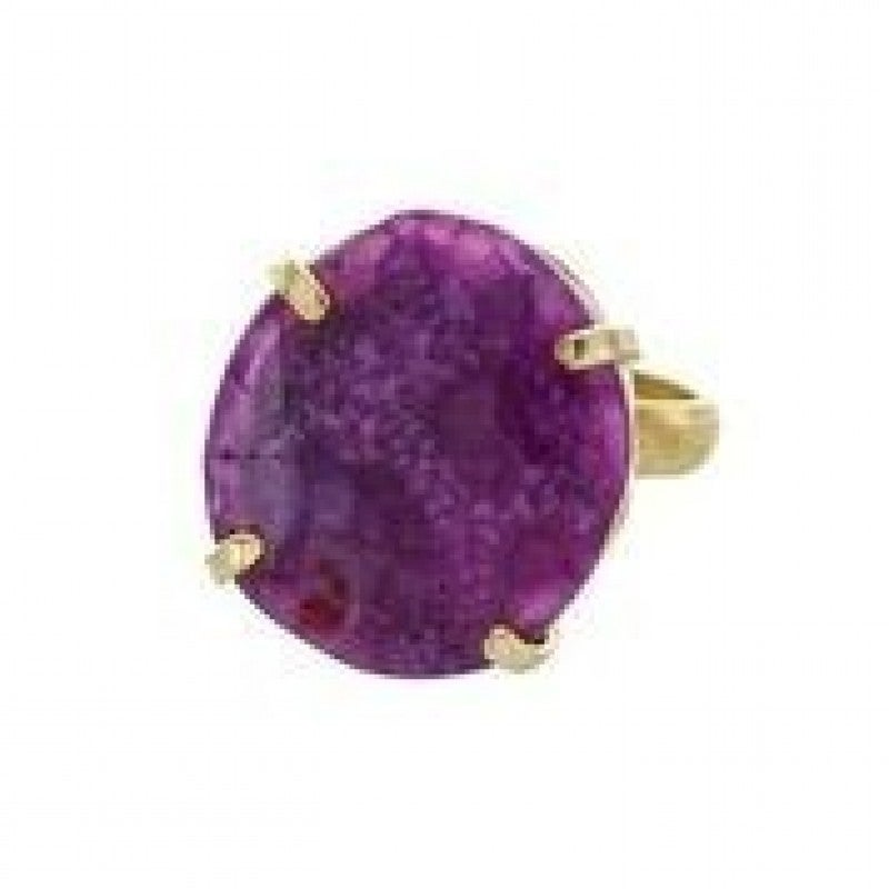 Amethyst Adjustable Statement Ring (Multiple Colors)