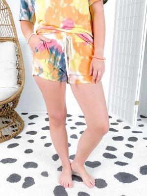 Bright Tie Dye Shorts (Multiple Colors)
