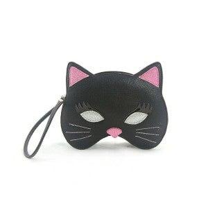 Black Kitty Mask Wristlet