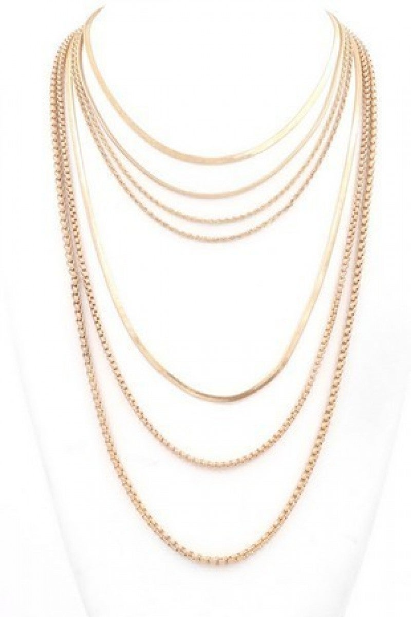 7 Chain Layered Necklace