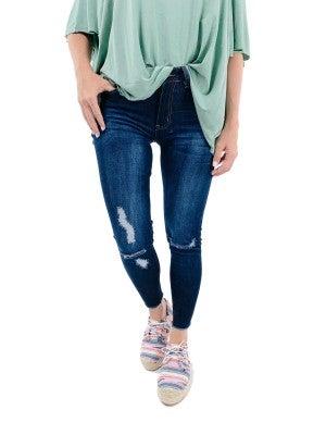 Doorbuster! Plus/Reg KanCan Perfectly Distressed Crop Skinny Jeans