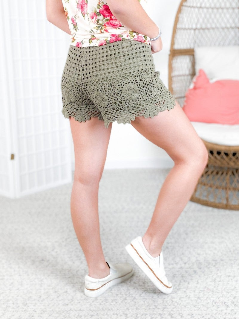 Femme Crochet Shorts (Multiple Colors)