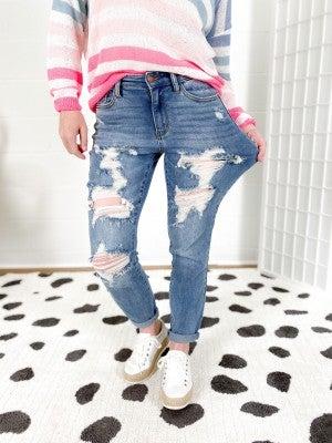 PLUS/REG Judy Blue Mommin' Ain't Easy Jeans