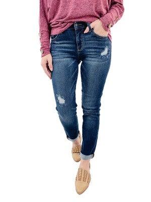 Plus / Reg Judy Blue Dark Blue Tapered Slim OG Jeans