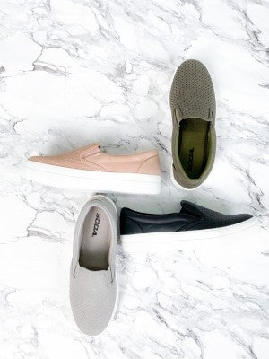 Slip On Perforated Sneaker (Multiple Colors)