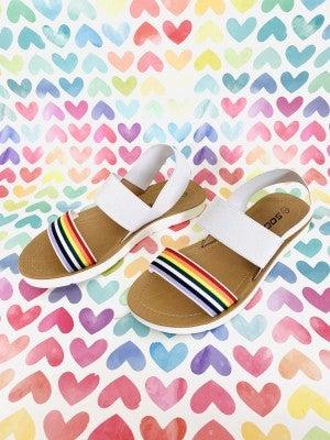 Rainbow Strap Sandal
