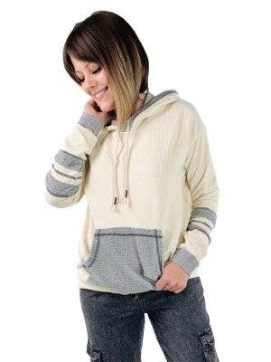 Corduroy Varsity Striped Pullover Hoodie (Multiple Colors)