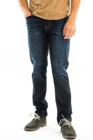 EVERYDAYWEAR - Mens Slim KanCan Straight Leg Dark Wash Jeans