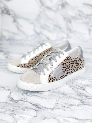 Cheetah Print Star Low Top Sneakers