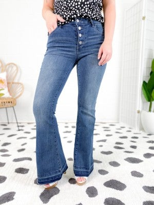 C'est Toi (Black Label) Date Night Flare Jeans (Multiple Washes)