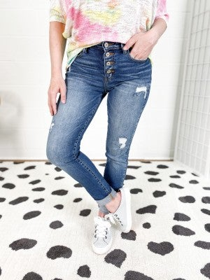 KanCan BFF Button Fly Girlfriend Jeans