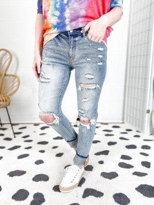 KanCan KAN of Paint Splatter Boyfriend Jeans!